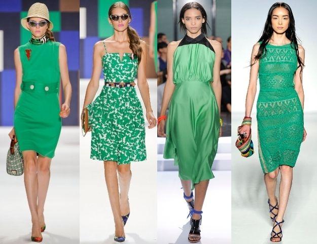 Зелену сукню: як і з чим носити
