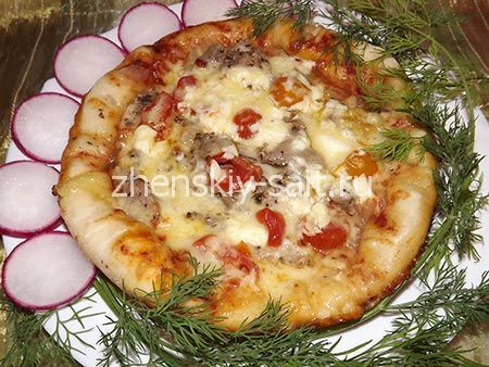 піца в мультиварці