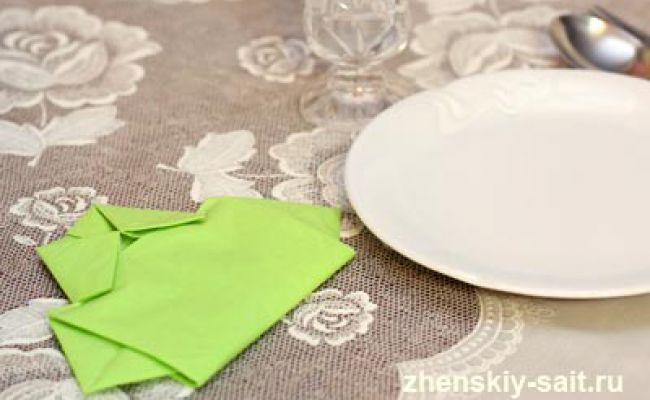 Як красиво скласти паперові серветки на стіл: сорочка з серветки