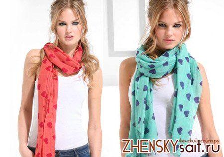 способи зав`язувати шарфи