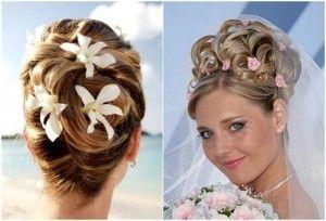 Красиві зачіски на весілля