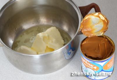 Крем з вареного згущеного молока і масла для торта