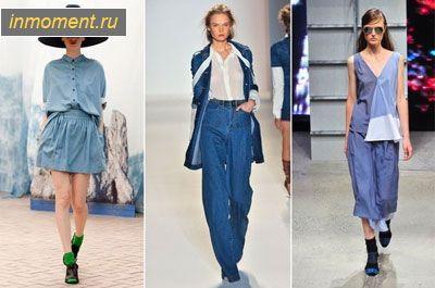 Модна джинсовий одяг зима 2014/2015