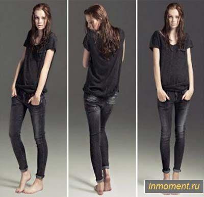 Модні джинси осінь 2012: укорочені, вузькі джинси і кльош