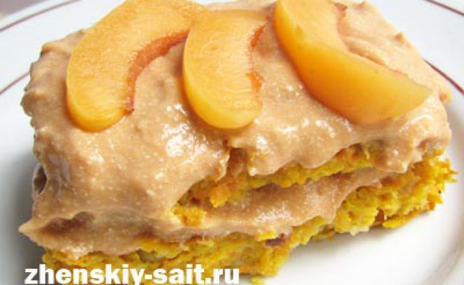 Низькокалорійний торт з моркви і яблука
