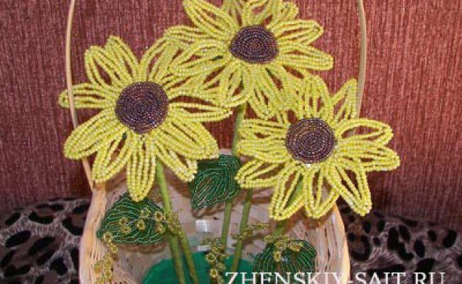 Плетіння квітів з бісеру: по кроках для початківців (соняшники в кошику)