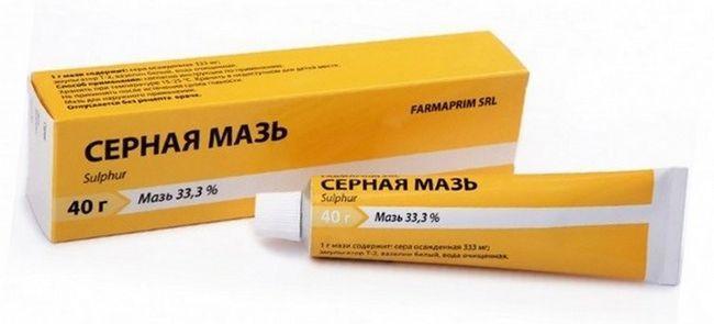 Застосування сірчаної мазі для лікування шкірних захворювань