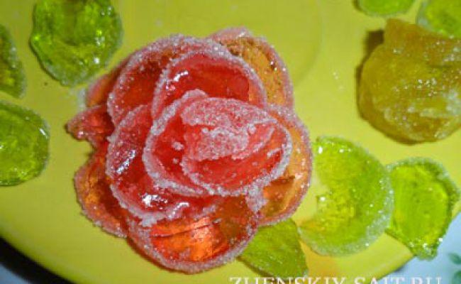 Трояндочки для торта: прикраса випічки мармеладом