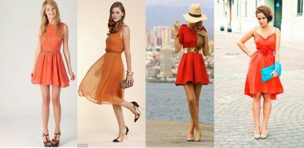 З чим носити помаранчеве плаття: 34 фото