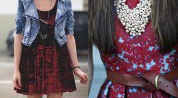 Поєднання кольору марсала в одязі