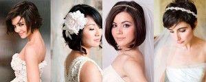 Весільні зачіски на середні волосся