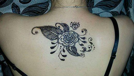 Татуювання хною для дівчат: приклади і ескізи