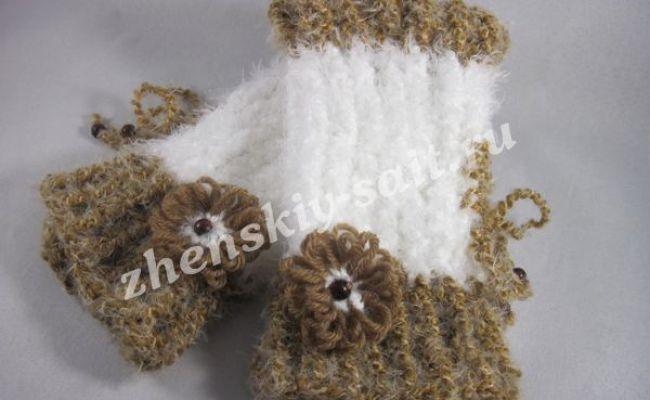 Теплі рукавиці для початківців - в`язання на луме і тенеріфе