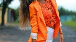 Вчимося правильно поєднувати помаранчевий колір в одязі