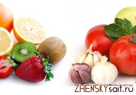 фруктово-овочевий вегетаріанський раціон